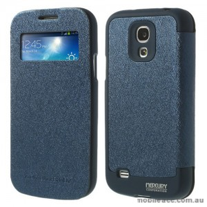 Korean WOW Window View Flip Cover for Samsung Galaxy S4 - Blue