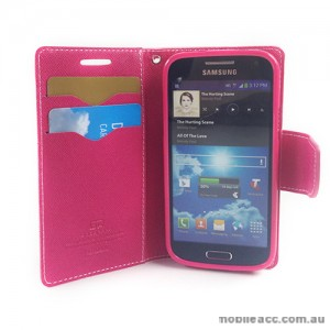 Mercury Goospery Fancy Diary Wallet Case for Samsung Galaxy S4 mini - Pink