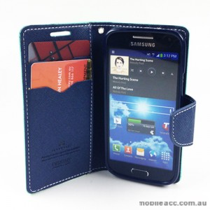 Mercury Goospery Fancy Diary Wallet Case for Samsung Galaxy S4 mini - Green