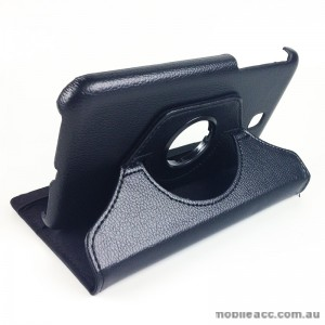 360 Degree Rotary Case Cover for Samsung Galaxy Tab 3 7.0 - Black