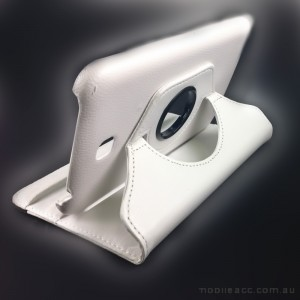 360 Degree Rotary Case Cover for Samsung Galaxy Tab 3 7.0 - White