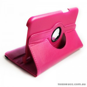 360 Degree Rotary Case Cover for Samsung Galaxy Tab 3 8.0 - Hot Pink