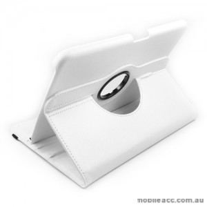 360 Degree Rotary Case Cover for Samsung Galaxy Tab 3 10.1 - White