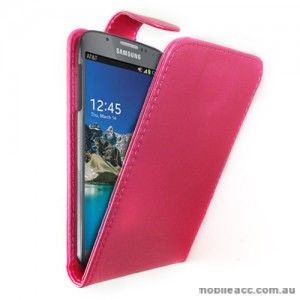 Synthetic Leather Flip Case for Samsung Galaxy S4 Active i9295 - Hot Pink