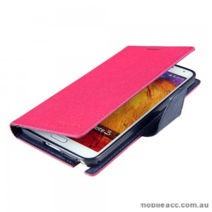Mercury Goospery Fancy Diary Wallet Case for Samsung Galaxy Note 3 - Hot Pink