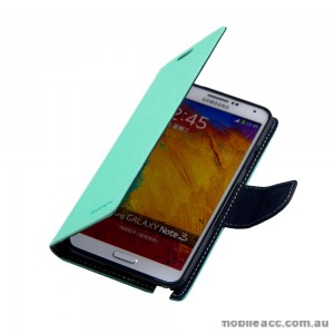 Mercury Goospery Fancy Diary Wallet Case for Samsung Galaxy Note 3 - Green