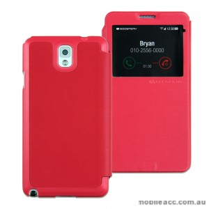 Mercury Goospery Easy View Flip Cover for Samsung Galaxy Note 3 - Hot Pink