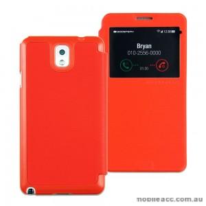 Mercury Goospery Easy View Flip Cover for Samsung Galaxy Note 3 - Orange