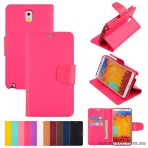 Mercury Goospery Sonata Wallet Case for Samsung Galaxy Note 3 - Hot Pink
