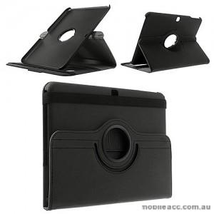 360 Degree Rotating Case for Samsung Galaxy Tab 4 10.1 - Black