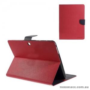 Korean Mercury Fancy Diary Case for Samsung Galaxy Tab 4 10.1 - Red