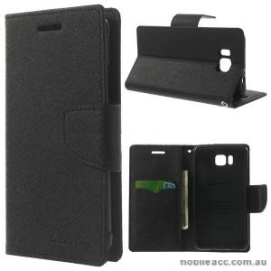 Korean Mercury Fancy Diary Wallet Case for Samsung Galaxy Alpha - Black