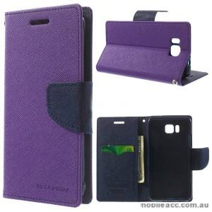 Korean Mercury Fancy Diary Wallet Case for Samsung Galaxy Alpha - Purple