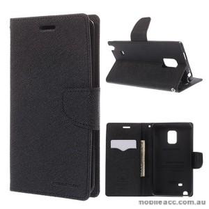 Korean Mercury Fancy Diary Wallet Case for Samsung Galaxy Note Edge - Black