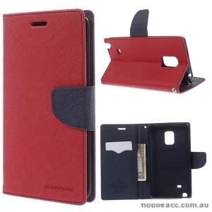 Korean Mercury Fancy Wallet Case for Samsung Galaxy Note Edge - Red