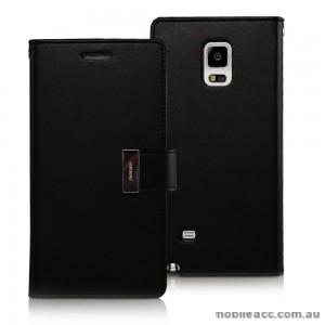 Korean Mercury Rich Diary Double Wallet Case for Samsung Galaxy Note Edge - Black