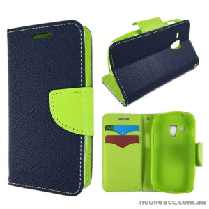 Wisecase Wallet Case Cover for Telstra Samsung Galaxy Trend Plus Navy Blue