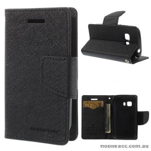Korean Mercury Fancy Diary Wallet Case for Samsung Galaxy Young 2 - Black