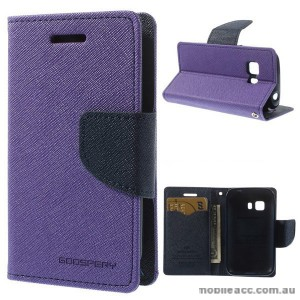 Korean Mercury Fancy Diary Wallet Case for Samsung Galaxy Young 2 - Purple