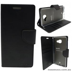 Mercury Goospery Bravo Diary Wallet Case For Samsung Galaxy A3 2016 - Black