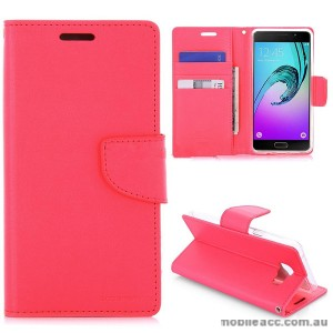 Mercury Goospery Bravo Diary Wallet Case For Samsung Galaxy A3 2016 - Hot Pink