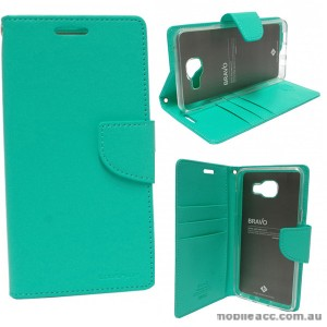 Mercury Goospery Bravo Diary Wallet Case For Samsung Galaxy A3 2016 - Mint
