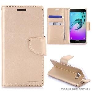 Mercury Goospery Bravo Diary Wallet Case For Samsung Galaxy A3 2016 - Gold
