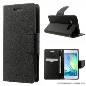 Korean Mercury Fancy Diary Wallet Case for Samsung Galaxy A5 - Black