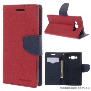 Korean Mercury Fancy Diary Wallet Case for Samsung Galaxy A5 - Red
