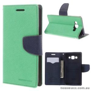 Korean Mercury Fancy Diary Wallet Case for Samsung Galaxy A5 - Green