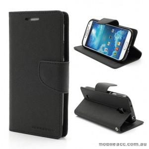 Korean Mercury Fancy Dairy Wallet Case For Samsung Galaxy A9 - Black