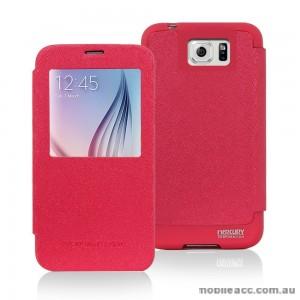 Korean Mercury WOW View Cover for Samsung Galaxy S6 Edge Hot Pink