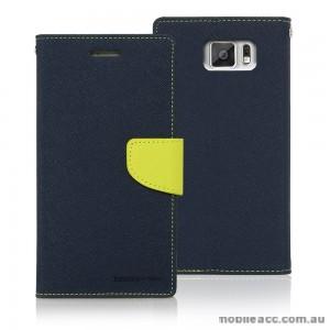 Korean Mercury Fancy Dairy Wallet Case for Samsung Galaxy J5 Navy
