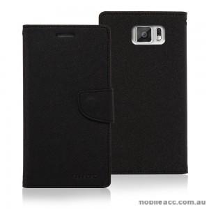Korean Mercury Fancy Diary Wallet Case for Samsung Galaxy J7 Black