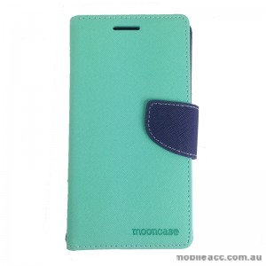 Mooncase Stand Wallet Case for Samsung Galaxy J1 Ace Green