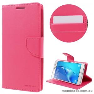 Mercury Goospery Bravo Diary Wallet Case For Samsung Galaxy J5 2016 - Hot Pink