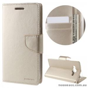 Mercury Goospery Bravo Diary Wallet Case For Samsung Galaxy J5 2016 - Gold
