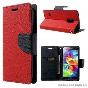 Korean Mercury Fancy Dairy Wallet Case for Samsung Galaxy J1 Ace Red