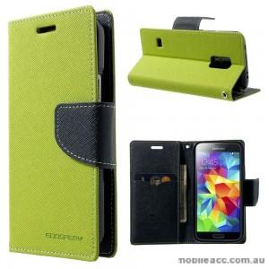 Korean Mercury Fancy Dairy Wallet Case for Samsung Galaxy J1 Ace Lime