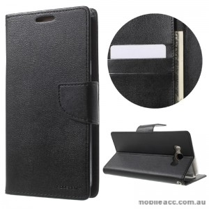 Mercury Goospery Bravo Diary Wallet Case For Samsung Galaxy J7 2016 - Black