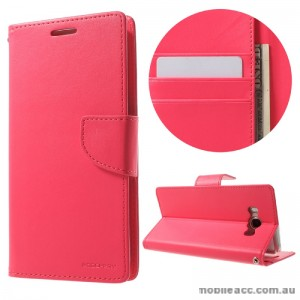 Mercury Goospery Bravo Diary Wallet Case For Samsung Galaxy J7 2016 - Hot Pink