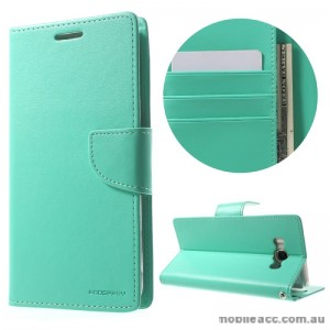 Mercury Goospery Bravo Diary Wallet Case For Samsung Galaxy J7 2016 - Mint