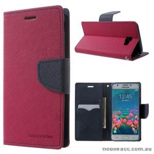 Korean Mercury Fancy Dairy Wallet Case For Samsung Galaxy J5 Prime - Hot Pink