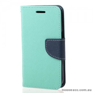 Mooncase Stand Wallet Case For Samsung Galaxy J1 Mini Mint Green