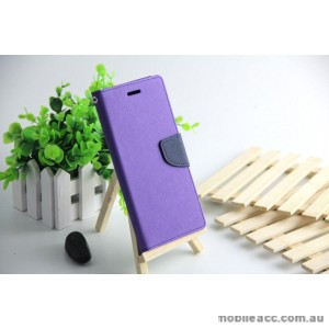 Mooncase Stand Wallet Case For Samsung Galaxy J1 Mini Purple