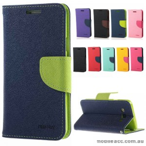 Korean Mercury Fancy Dairy Wallet Case For Samsung Galaxy J2 - Navy Blue