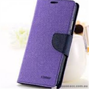 Korean Mercury Fancy Dairy Wallet Case For Samsung Galaxy J2 - Purple