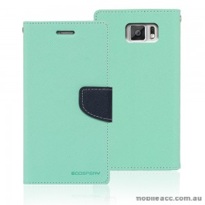 Korean Mercury Fancy Dairy Wallet Case for Samsung Galaxy A7 Mint