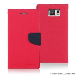 Korean Mercury Fancy Dairy Wallet Case for Samsung Galaxy A7 Hot Pink