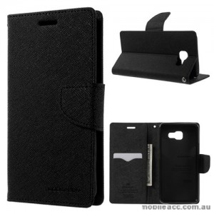 Mercury Goospery Fancy Diary Wallet Case For Samsung Galaxy A3 2017 Black